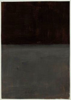 "dailyrothko: "" Mark Rothko, Untitled (Brown and Grey), Estate of Mark Rothko The dark paintings of 1969 are collected here: 1 2 3 "" Mark Rothko Paintings, Rothko Art, Dark Paintings, Abstract Painters, Abstract Art, Barnett Newman, Art Moderne, Art Abstrait, Vanitas"