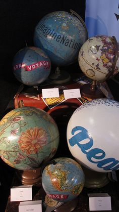 Decorated globes