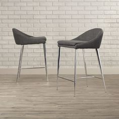 """Varick Gallery Boyds 24.4"""" Counter Stool with Cushion & Reviews 