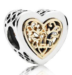 1491b566e ... shop pandora magnificent kingdom charm herz bicolor 791740 bicolor  9065d b0cc1 ...