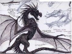 Dragon concept art from The Elder Scrolls V: Skyrim by Adam Adamowicz