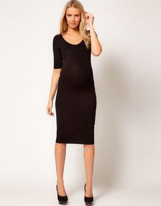 ASOS Maternity | ASOS Maternity Bodycon Midi Dress at ASOS