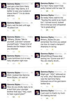 Haha oh gemma!! Ik not one direction but I just had to post it!
