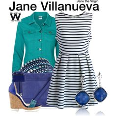 Inspired by Gina Rodriguez as Jane Villanueva on Jane the Virgin.