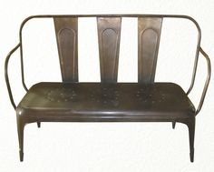 You've seen tolix chairs and stools, now complete your theme with this #tolix style bench! This bronze finished bench will look fantastic regardless of where you choose to put it! www.antiquesdirect.ca #AntiqueStore @AntiqueMarket #Vancouver #Industrial #Furniture