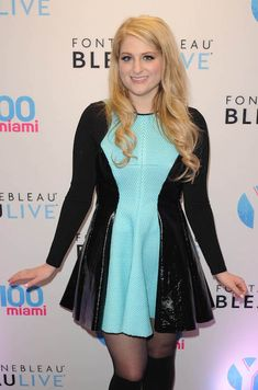 American singer, Meghan Trainor at The Y-100 All About That Bass Party held at the Fontainebleau....