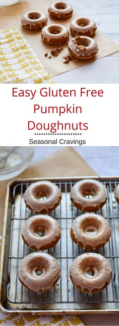 These Easy Gluten Free Pumpkin Doughnuts are soft, flavorful and sweet.  They are the perfect fall treat for after school. Once you've mastered this basic recipe, you'll use it again and again.