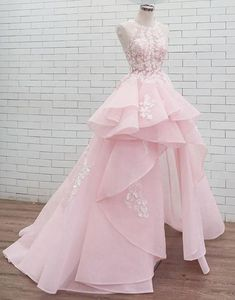 Pink round neck lace long prom dress sweet dress, Shop plus-sized prom dresses for curvy figures and plus-size party dresses. Ball gowns for prom in plus sizes and short plus-sized prom dresses for Baby Pink Prom Dresses, Cute Prom Dresses, Sweet 16 Dresses, Sweet Dress, Dresses For Teens, Pretty Dresses, Dresses Dresses, Homecoming Dresses, Elegant Dresses