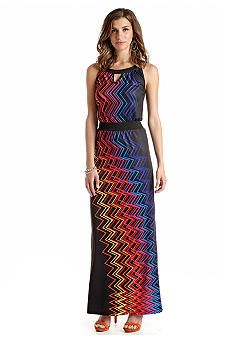 New Directions® Disco Wave Maxi Dress