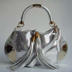 Gucci Silver Snake Handbag