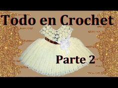 vestido de flores a crochet parte 2 de 4 - YouTube