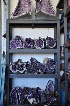 Amethyst  crystals   ❦ semi precious stones ❦ Kristall ❦ Minerals ❦ Cristales ❦