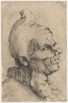 Large Grotesque Head Jusepe de Ribera (called Lo Spagnoletto) 1622