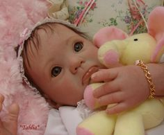 Reborn Baby girl Tahlia...Muffin kit by Donna Rupert...3 lbs & 8 oz's...18 inches...rooted hair..Created by me..2012..