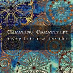 Have you ever sat looking at a blank screen and realized that your creative reservoir is suffering from a severe drought – the dreaded writers block has descended? It's as if creativity got up & fled