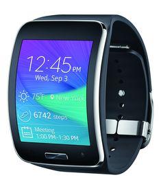 Samsung Galaxy Gear S R750W Smart Watch w/ Curved Super AMOLED Display (Black) - International Version No Warranty:Amazon:Cell Phones & Accessories