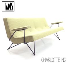 RARE Adrian Pearsall Sofa Iron Frame Mid Century Modern Eames  Knoll Grossman #AdrianPearsall