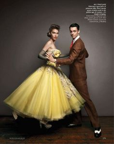 'Let's Dance', Arizona Muse byPatrick Demarchelier, Vogue IndiaAugust 2011.  Christian Dior Spring Summer 2011 Haute Couture