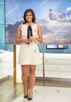 Itv Weather Girl, Weather Girl Lucy, Hottest Weather Girls, Beautiful Legs, Gorgeous Women, Rachael Riley, Maggie Lawson, Kirsty Gallacher, Lucy Wilde