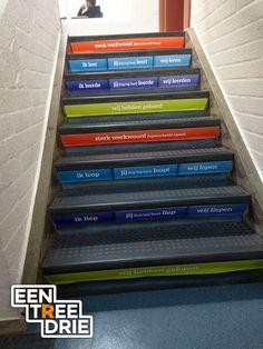 Spellingsregels op de trap. EenTreeDrie regelt het!