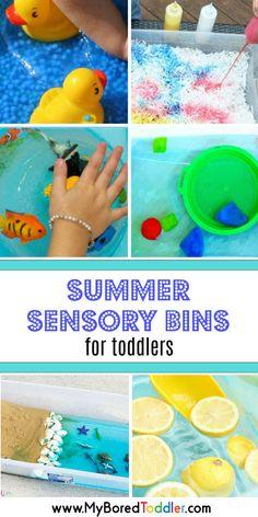 summer sensory bins for toddlers pinterest
