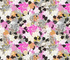 Jungle Passion layered and tossed fabric by joanmclemore on Spoonflower - custom fabric