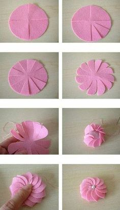Paper Flower Tutorial Dyi Crafts Flower Making Handicraft Teacher Gifts Paper Flowers Craft Projects Projects To Try Origami Cloth Flowers, Felt Flowers, Diy Flowers, Fabric Flowers, Paper Flowers, Flower Diy, Chiffon Flowers, Wreath Crafts, Ribbon Crafts