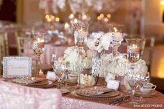Blush wedding- love the glasses