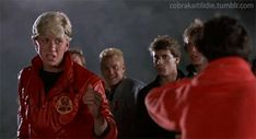 I thought it would be fun to break down some of the fight sequences in The Karate Kid, blow by blow, pointing out some of the maybe not so obvious things that our beloved Karate Kid cast do (whether. The Karate Kid 1984, Karate Kid Cobra Kai, Kids Cast, William Zabka, Cobra Kai Dojo, Blonde Boys, Miyagi, Beach Kids, Beach Scenes