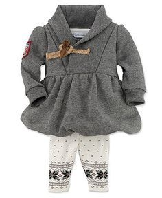 Ralph Lauren Baby Set, Baby Girls 2-Piece Hoodie and Pants – Kids Baby Girl (0-24 months) – Macy's | best stuff