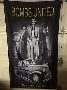 Bombs United Flag Chicano Art Culture Original 1948 1947 1938 1939 GM Chevy