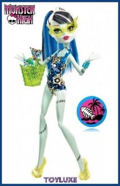 Monster High SWIM CLASS Frankie Stein Doll EXCLUSIVE Classic Beach Fashion RARE  #Mattel #DollswithClothingAccessories