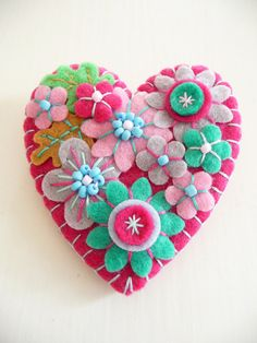Heart Shape Brooch