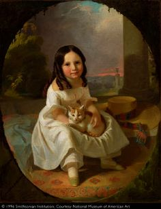 John F. Francis Mary Elizabeth Francis, the Artist's Daughter ca. 1840 Smithsonian American Art Museum