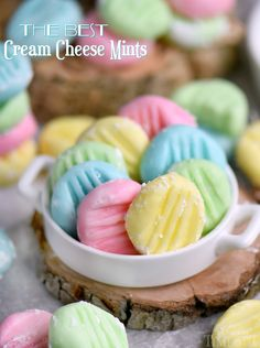 The BEST Cream Cheese Mints you'll ever try! This incredibly easy recipe yields the most delicious, luscious, melt-in-your-mouth cream cheese mints around! Make them in any color you like! Perfect for Easter, baby showers, weddings, and more! Let's be friends! Sign up to get my new recipes in your inbox! Follow me on Facebook and Instagram too! PIN IT …