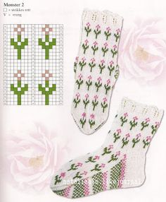 Blooming Lavender socks pattern by Stone Knits -