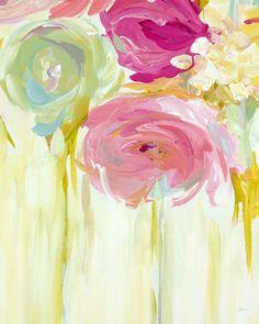 Blush Bloom Canvas Painting