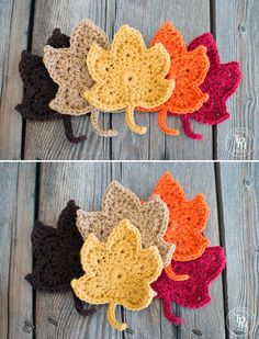 Beautiful crochet autumn leaves - free pattern
