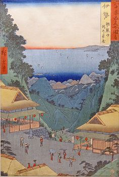 works by Hiroshige I Japanese Drawings, Japanese Artwork, Japanese Painting, Japanese Prints, Oriental Flowers, 17th Century Art, Art Japonais, Japan Art, Woodblock Print