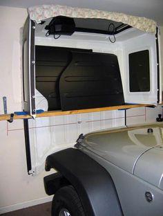 4 Door Wrangler JK Freedom Top Hanger DIY | jeepfan.com