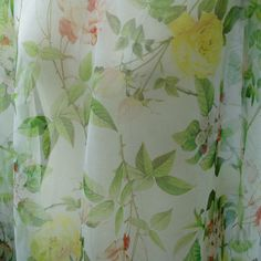 """pure silk organza fabric floral print pattern 55"""" width sell by meter fashion fabric by miaofashion on Etsy https://www.etsy.com/listing/499098038/pure-silk-organza-fabric-floral-print"""