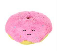 Fluffy doughnut pillow