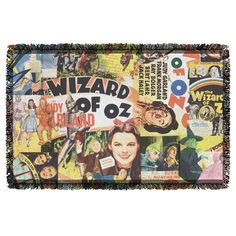Wizard Of Oz Collage Throw Blanket