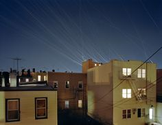 Dazzling Streaks of Light Show Airplane Flight Paths by photographer Kevin Cooley - My Modern Metropolis