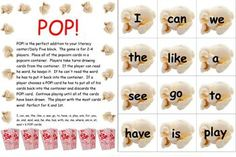 POP!  Sight Word Game for Kindergarten and 1st Grade - PLE