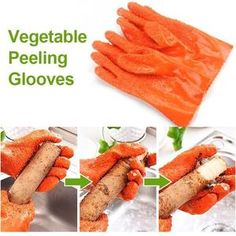VEGETABLE CLEANER GLOVES – Priceless Prestige Cooking Gadgets, Cooking Tools, Kitchen Gadgets, Potato Peeler, Cleaning Gloves, Peeling Potatoes, Gourmet Gifts, Fish Scales, Yams