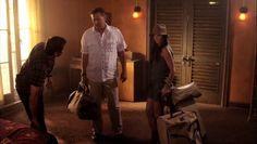 "Burn Notice 5x01 ""Company Man"" - Fiona Glenanne (Gabrielle Anwar) & Sam Axe (Bruce Campbell) & Max (Grant Show)"