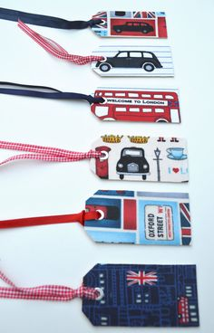 London luggage tags.