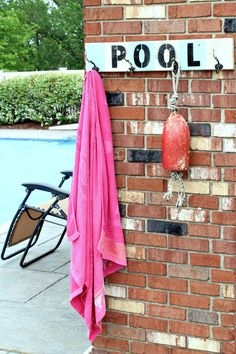 DIY Towel Hanger for the Pool House or Coat Rack for inside your home