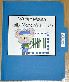 The Winter Mouse Tally Mark Number Match File Folder Game is math file folder game that focuses on basic counting skills and recognizing groups of tally marks.  In this file folder game, students match the correct numbers to the groups of tally marks given.